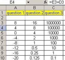 teachMathematics: Explore Sequences with Excel TN